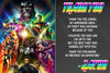 Avengers - Infinity War - Birthday Tickets Invitation