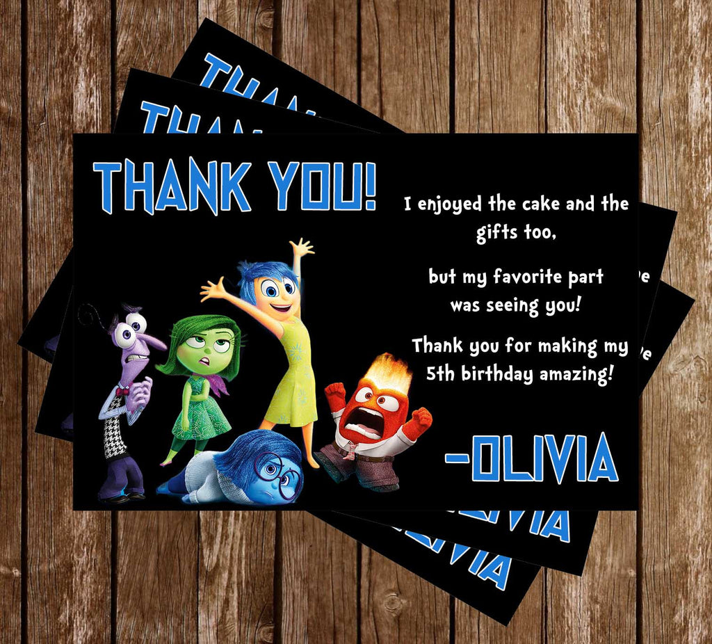 Inside Out - Movie - Birthday Thank You Card