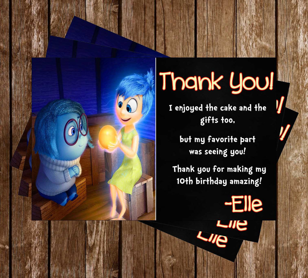 Inside Out Birthday Thank You Card