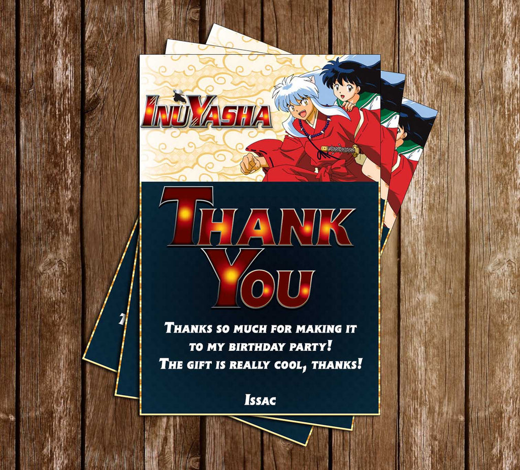 Inuyasha - Anime - Birthday Party - Thank You Card