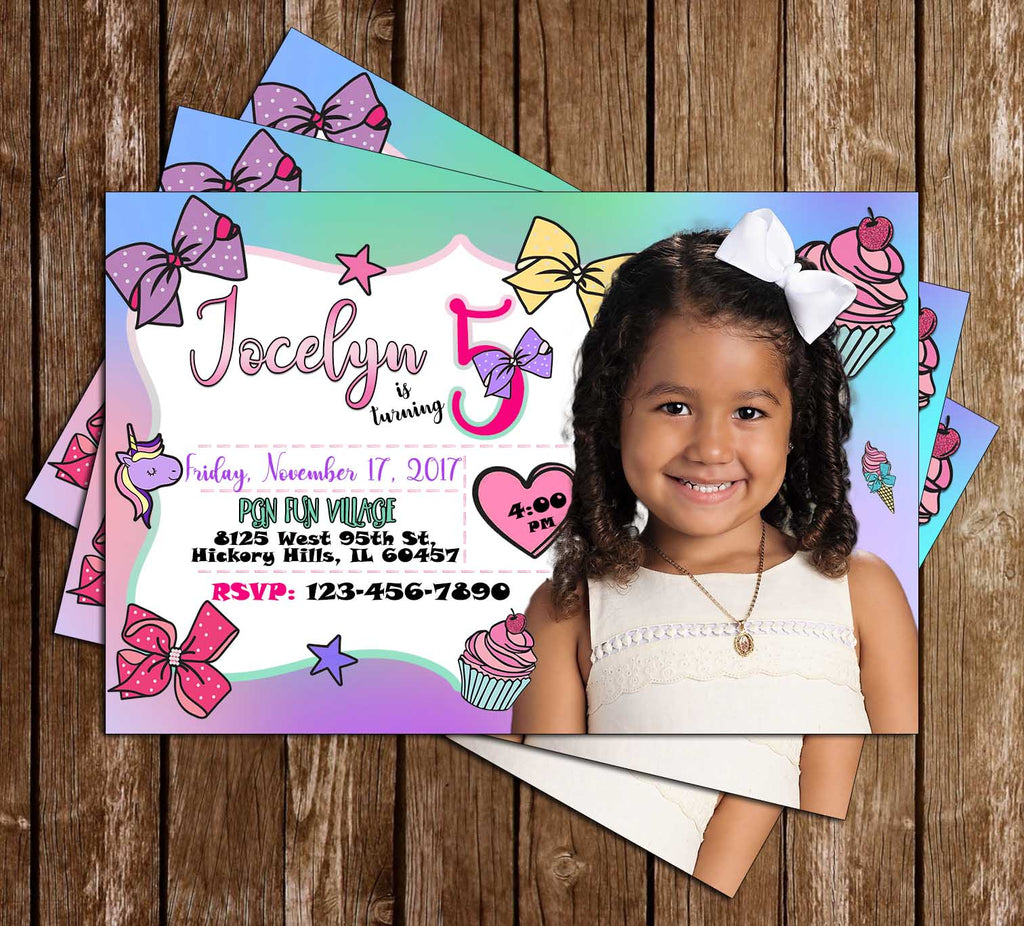 Jojo Siwa - Photo - Birthday - Party - Invitation