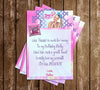 Jojo Siwa - Birthday - Party - Thank You Card
