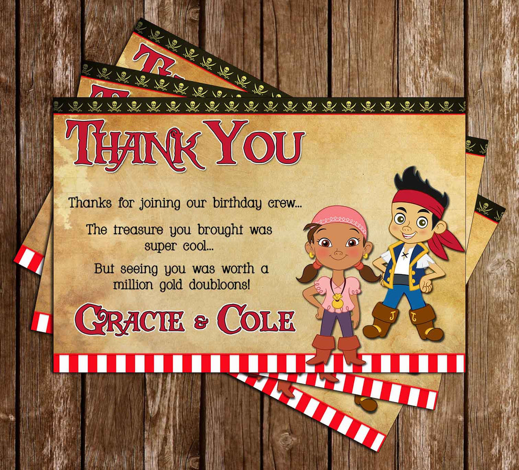 Disney Jake and the Neverland Pirates Thank You Card (Flag)