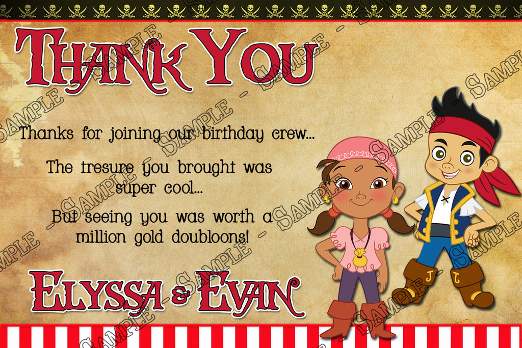 Novel Concept Designs - Jake and the Neverland Pirates Birthday ...