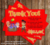 Disney Jake and the Neverland PiratesThank You Card (Red)