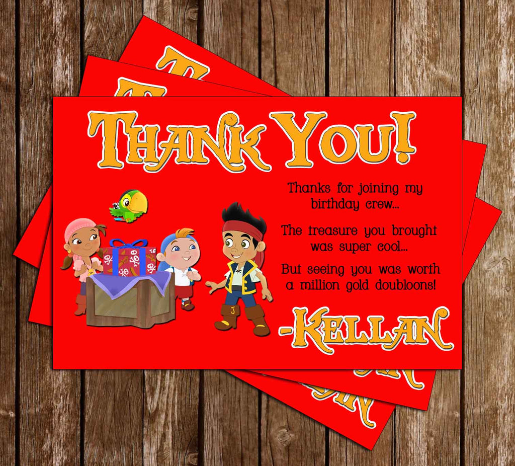 Jake and the Neverland PiratesThank You Card (Red)