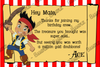 Disney Jake / Izzy and the Neverland Pirates Thank You Card