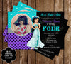 Disney Princess Jasmine - Aladdin Movie - Birthday Invitation