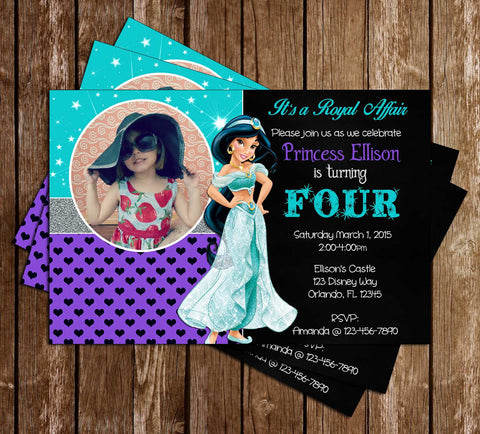 Disney Princess Jasmine - Aladdin Movie - Birthday Invitations