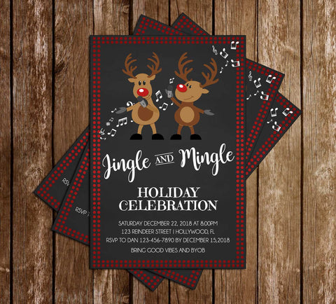 Jingle And Mingle - Holiday - Party Invitation