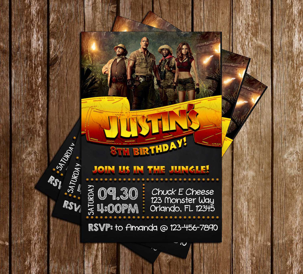 novel concept designs - jumanji - chalkboard - movie - birthday party