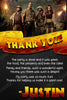Jumanji - Chalkboard - Birthday Party - Thank You Card