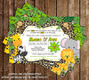 Baby Jungle Animals - Wild Baby Safari - Baby Shower - Bring a Book Insert