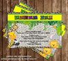 Baby Jungle Animals - Wild Safari Baby - Baby Shower Invitation -