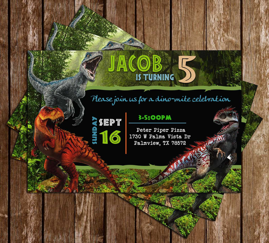 It is a picture of Ambitious Printable Dinosaur Birthday Invitations