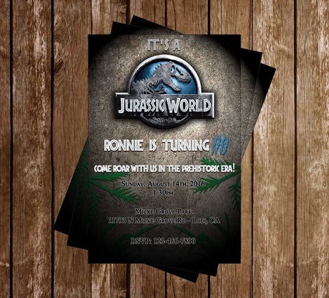 Jurassic World - Movie - Birthday - Invitation