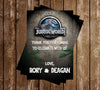 Dinosaur - Jurassic Park - Birthday - Invitation