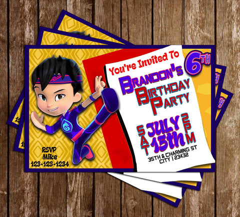 Kody Kapow - Sprout - Birthday Party - Invitation