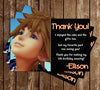 Kingdom Hearts 3 Game Birthday Thank You Card