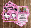 Hello Kitty Gymnastics / Tumbling Birthday Party Invitation