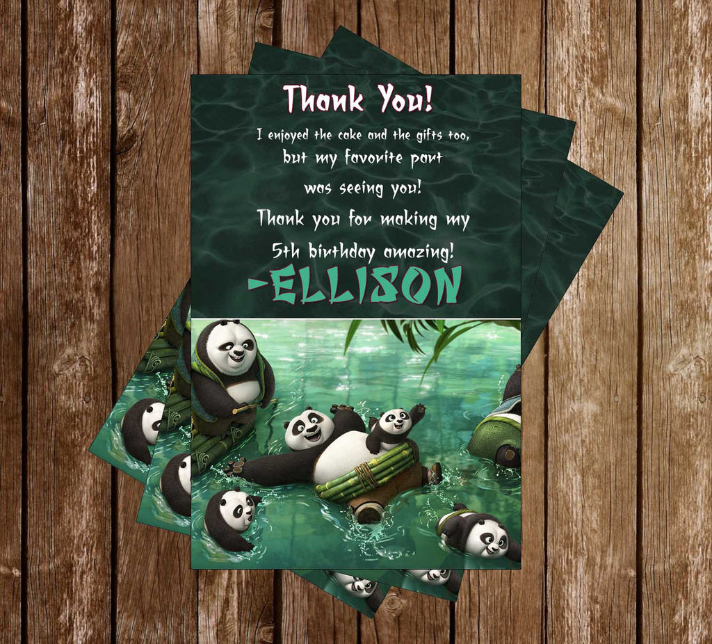 Kung Fu Panda 3 Movie Bowing Thank You Card