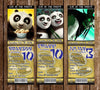 Kung Fu Panda 3 Movie Birthday Party Ticket Invitation
