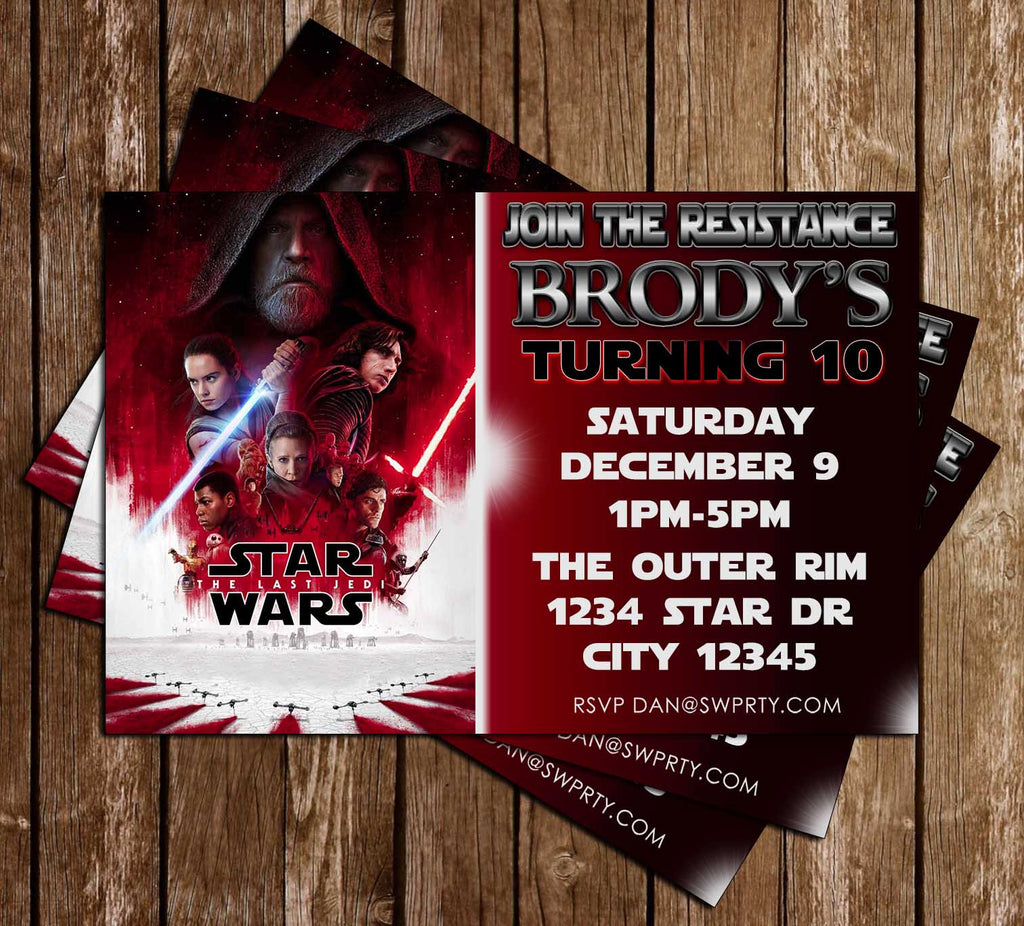 Novel Concept Designs - Star Wars - Last Jedi - Birthday Party ...