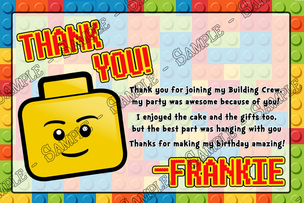 photo regarding Lego Birthday Invitations Printable named Lego Town Birthday Bash Invitation Printable