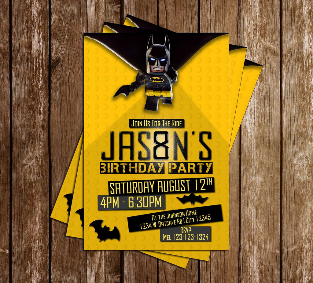 Lego Batman - Movie - Tall - Birthday Party Invitation