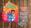 Lilo and Stitch - Birthday - Party - Thank You Card