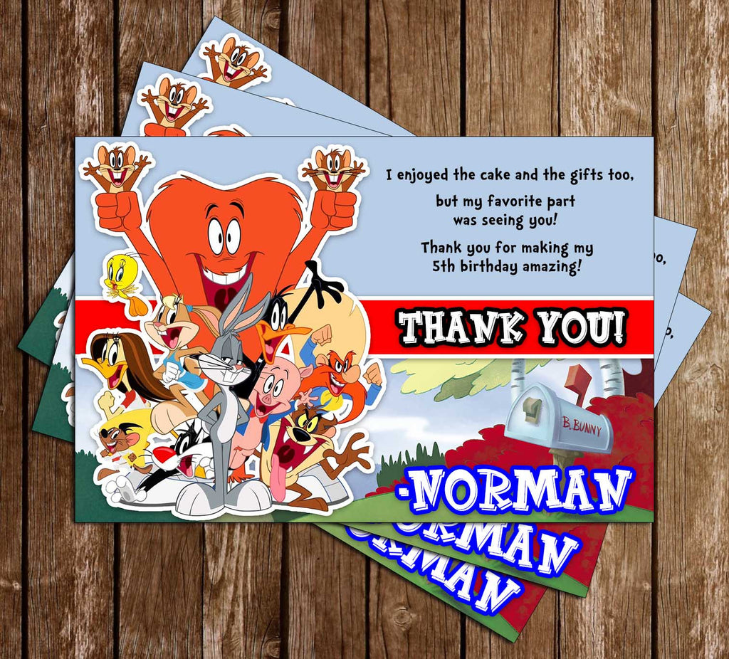 Novel Concept Designs Looney Tunes Birthday Party Invitation