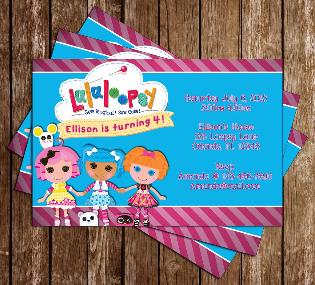Lalaloopsy Show Birthday Invitation (Pink)
