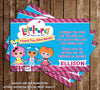 Lalaloopsy Show Birthday Thank You Card (Pink)