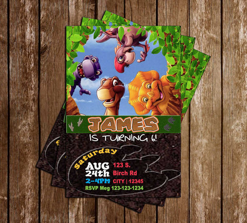 Land before Time - TV Show - Birthday Party - Invitation