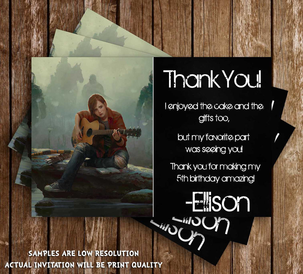 Novel concept designs the last of us game birthday thank you card the last of us game birthday thank you card stopboris Images