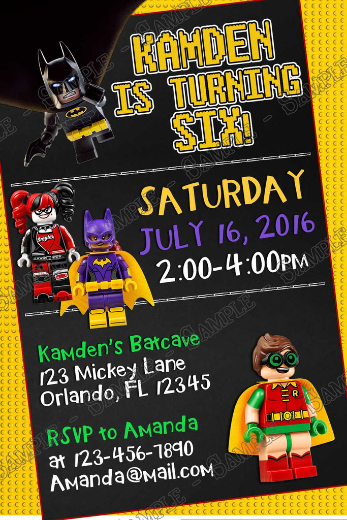 Novel Concept Designs Lego Batman Movie Birthday Party – Movie Themed Party Invitations