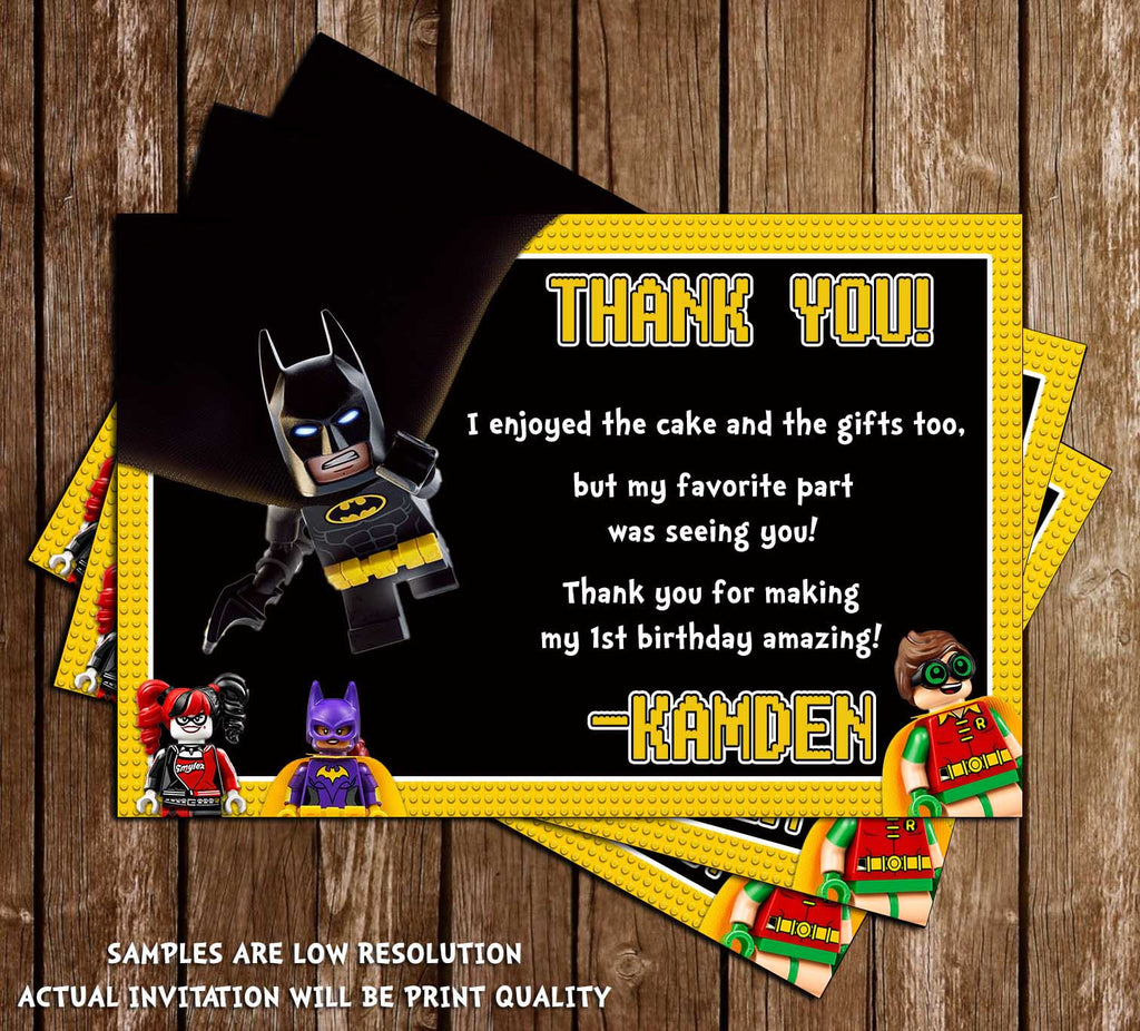 Novel Concept Designs Lego Batman The Movie Birthday Party – Ticket Invitation Maker