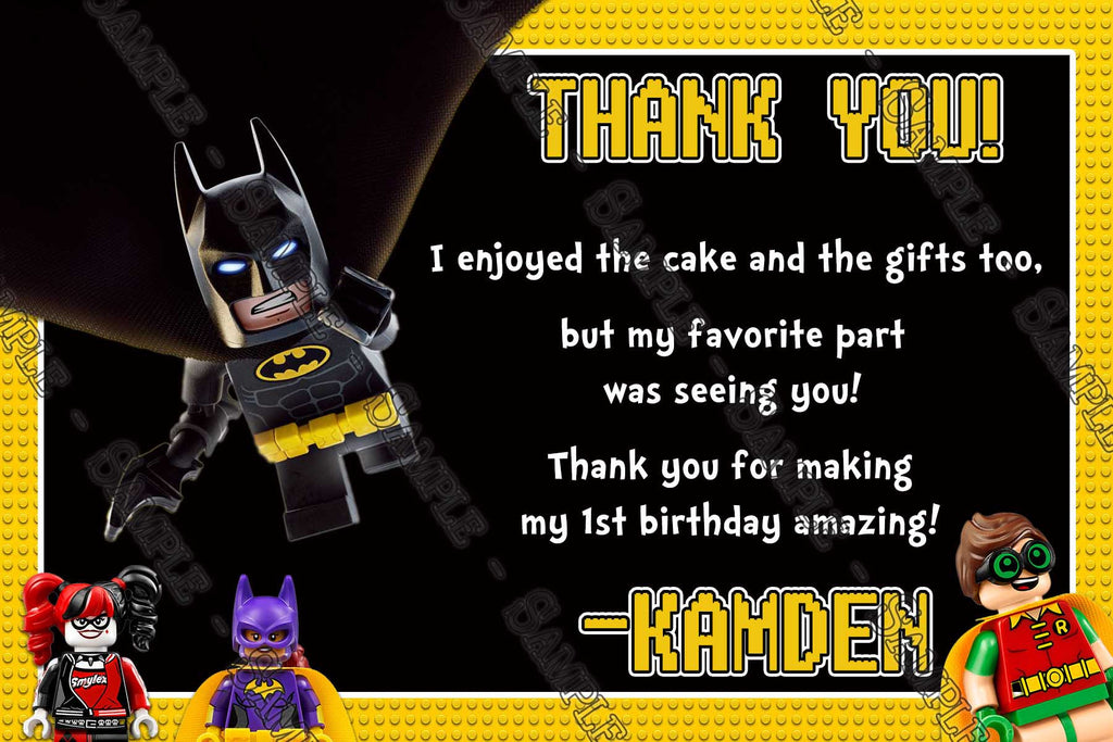 Novel Concept Designs - Lego Batman - Movie - Yellow - Birthday ...