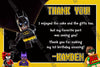 Lego Batman Movie Birthday Party Ticket Invitation