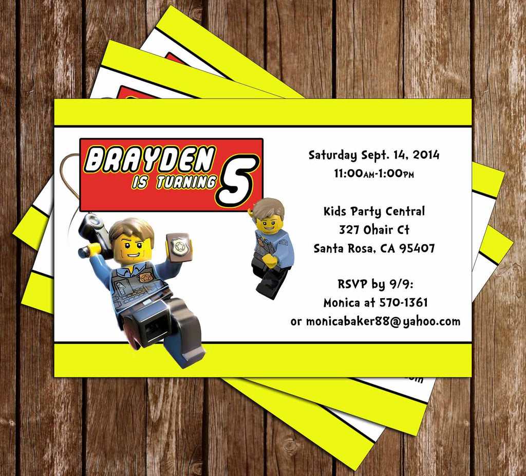 graphic relating to Lego Font Printable referred to as Lego Town Birthday Occasion Invitation Printable
