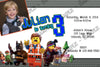 Lego Movie Birthday Party Invitation w/ Photo