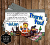 Lego Movie Feature Birthday Party Invitation w/ Photo