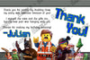 Lego Movie Feature Birthday Party Thank You Card