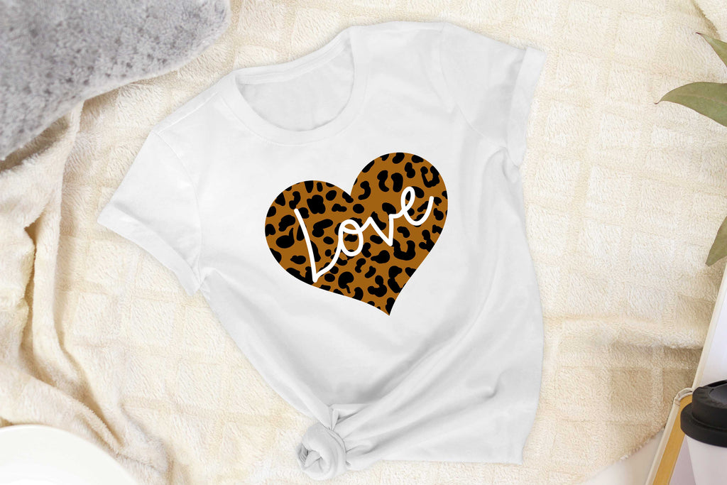 Leopard Heart - Love - T-Shirt