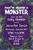Little Monster - Baby Shower - Invitation