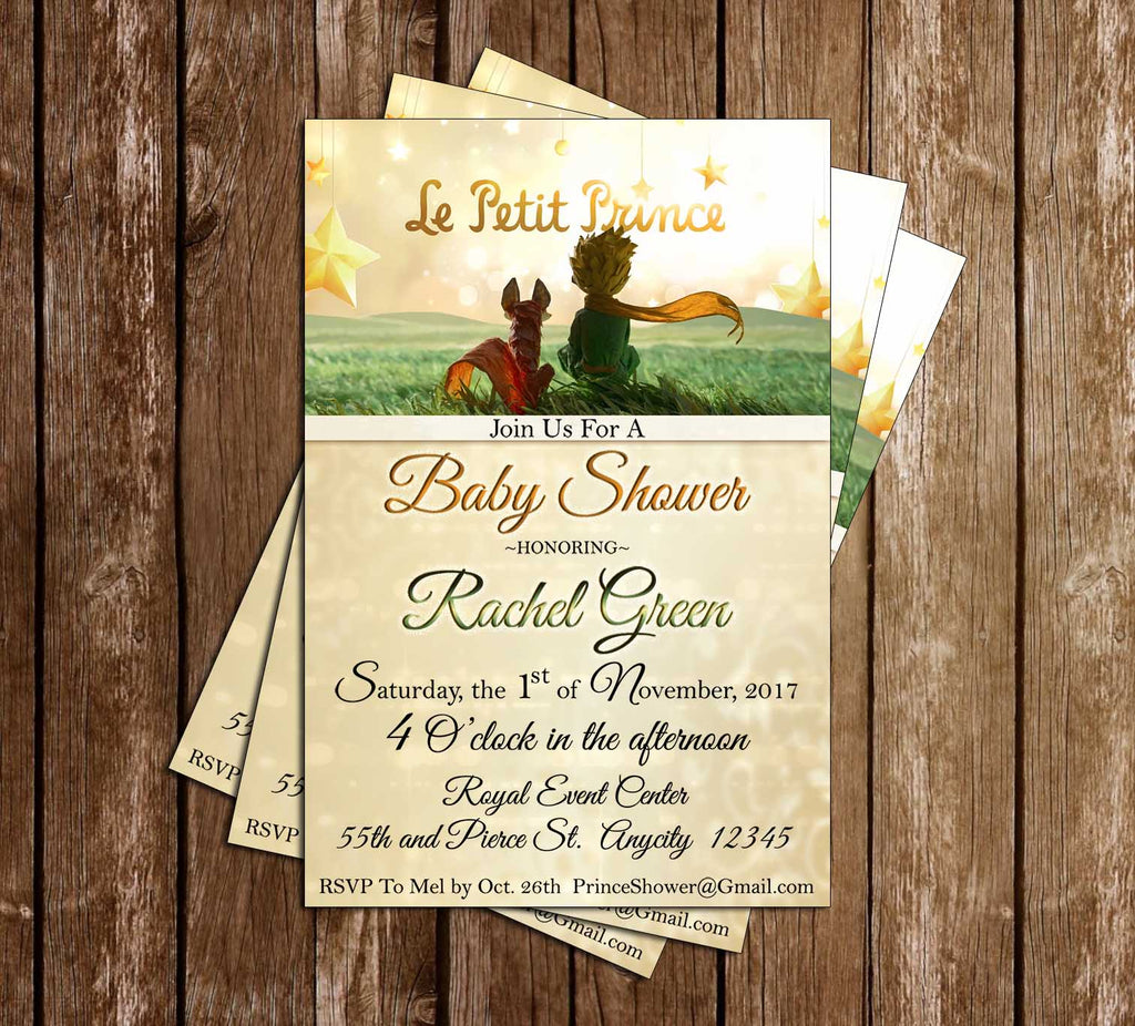 Novel Concept Designs - Little Prince - Birthday Party - Invitation