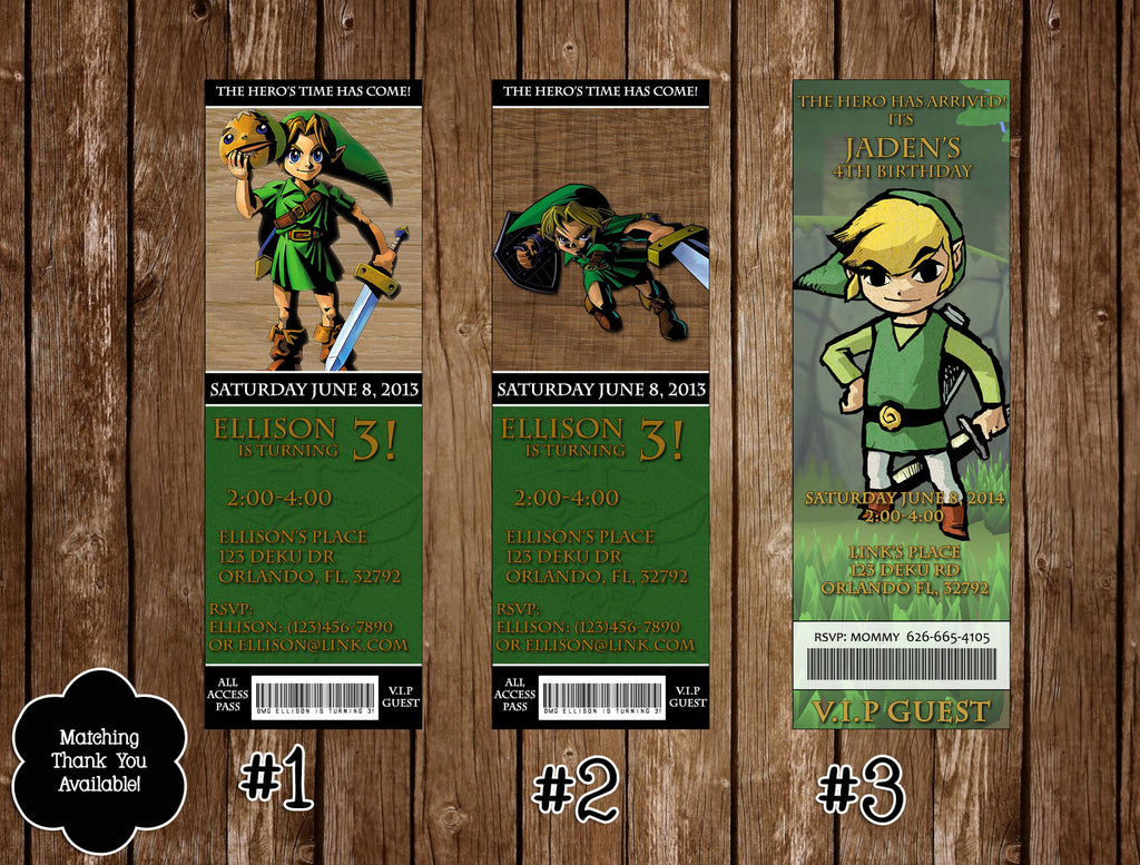 Novel concept designs legend of zelda birthday party invitations legend of zelda birthday party invitations stopboris Choice Image
