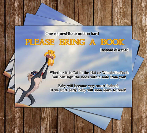 A King is Born - The Lion King - Baby Shower Bring A Book Insert