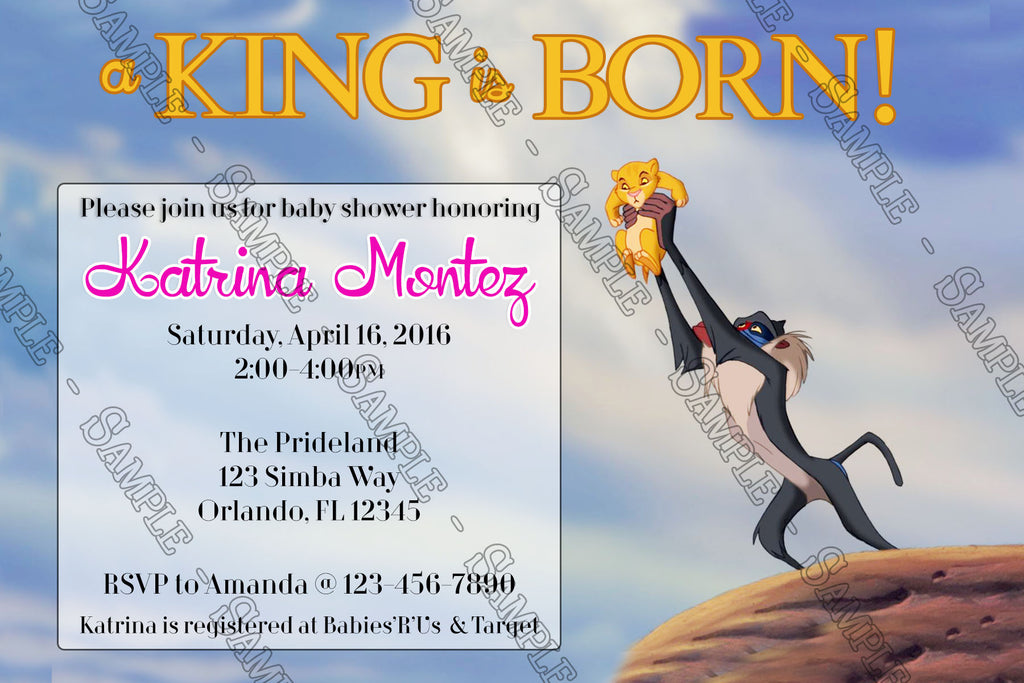 Novel Concept Designs - The Lion King - A King is Born - Baby Shower ...
