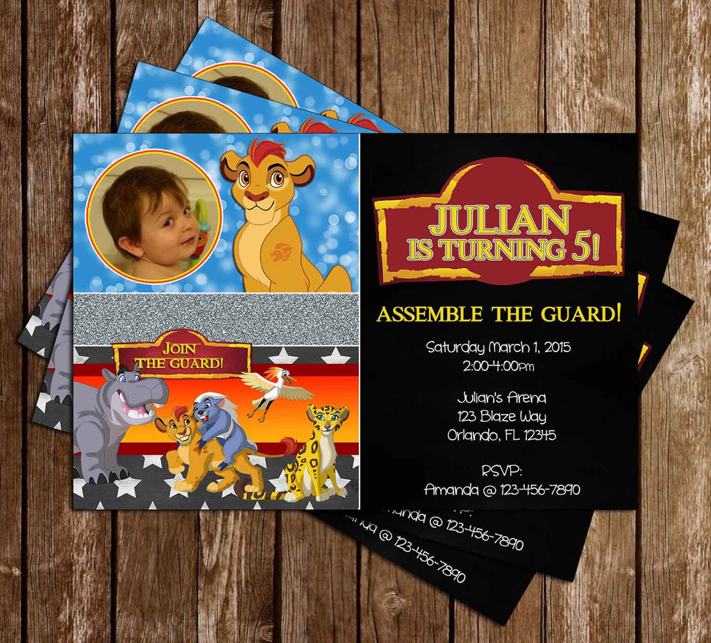 Disney's The Lion Guard - Lion King - Birthday Party Invitation